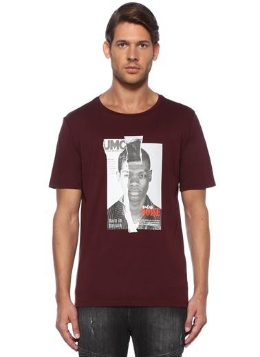 Neil Barrett Neil Barrett  Fotoğraf Baskılı T-shirt 101438214 Bordo